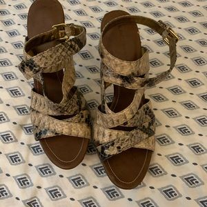 Womens sandals with heel 2 for $45